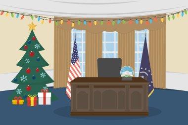 Empty Oval Office.