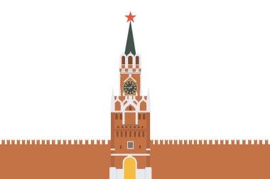Isolated Kremlin wall.