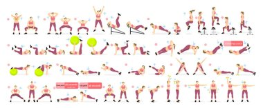 Exercises set for fat.