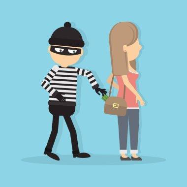 Pickpocket steals money.