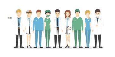 Isolated hospital staff.