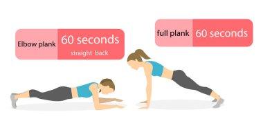 Plank exercise for women.