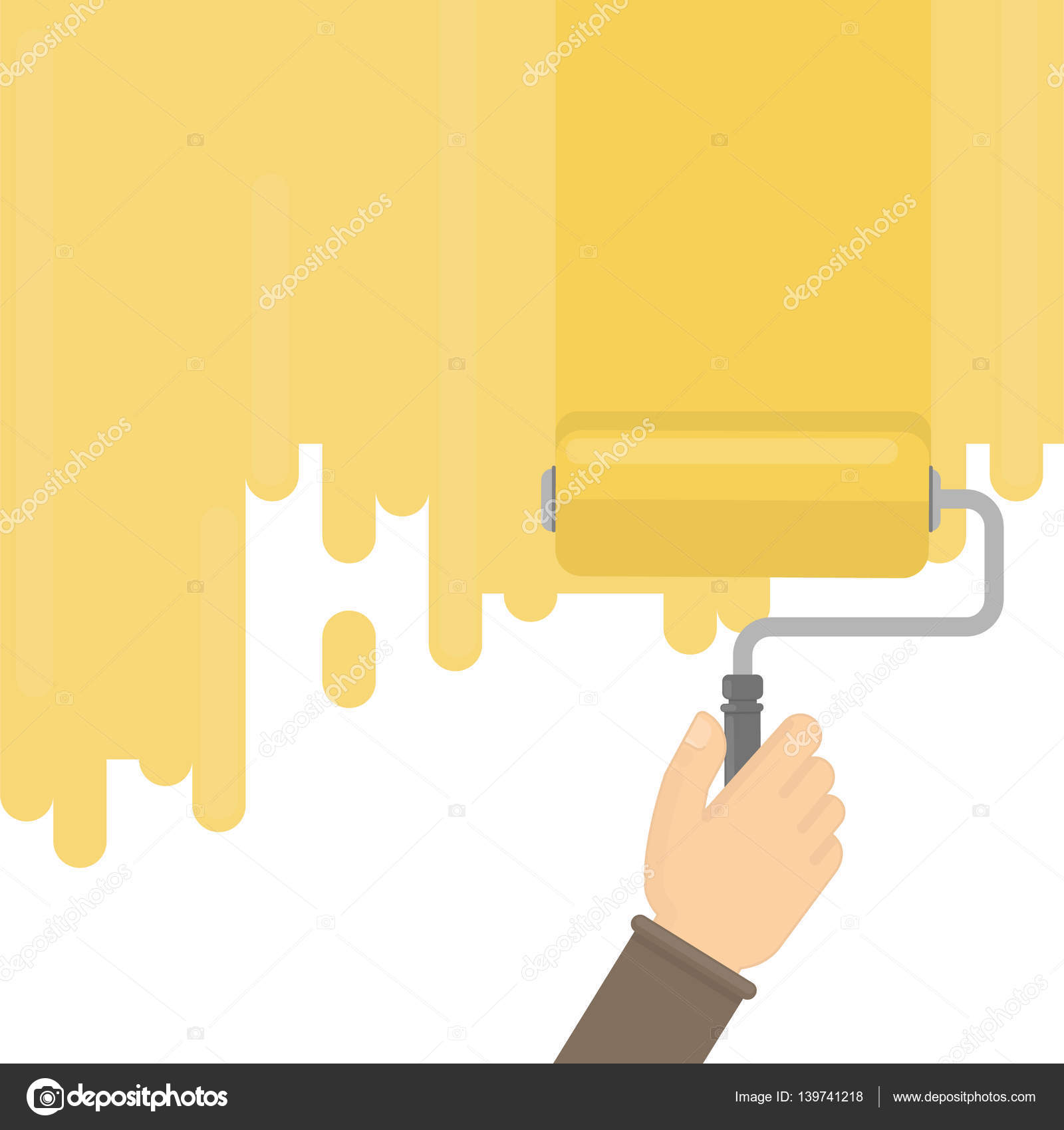 Wall painting with brush. — Stock Vector © inspiring.vector.gmail ...