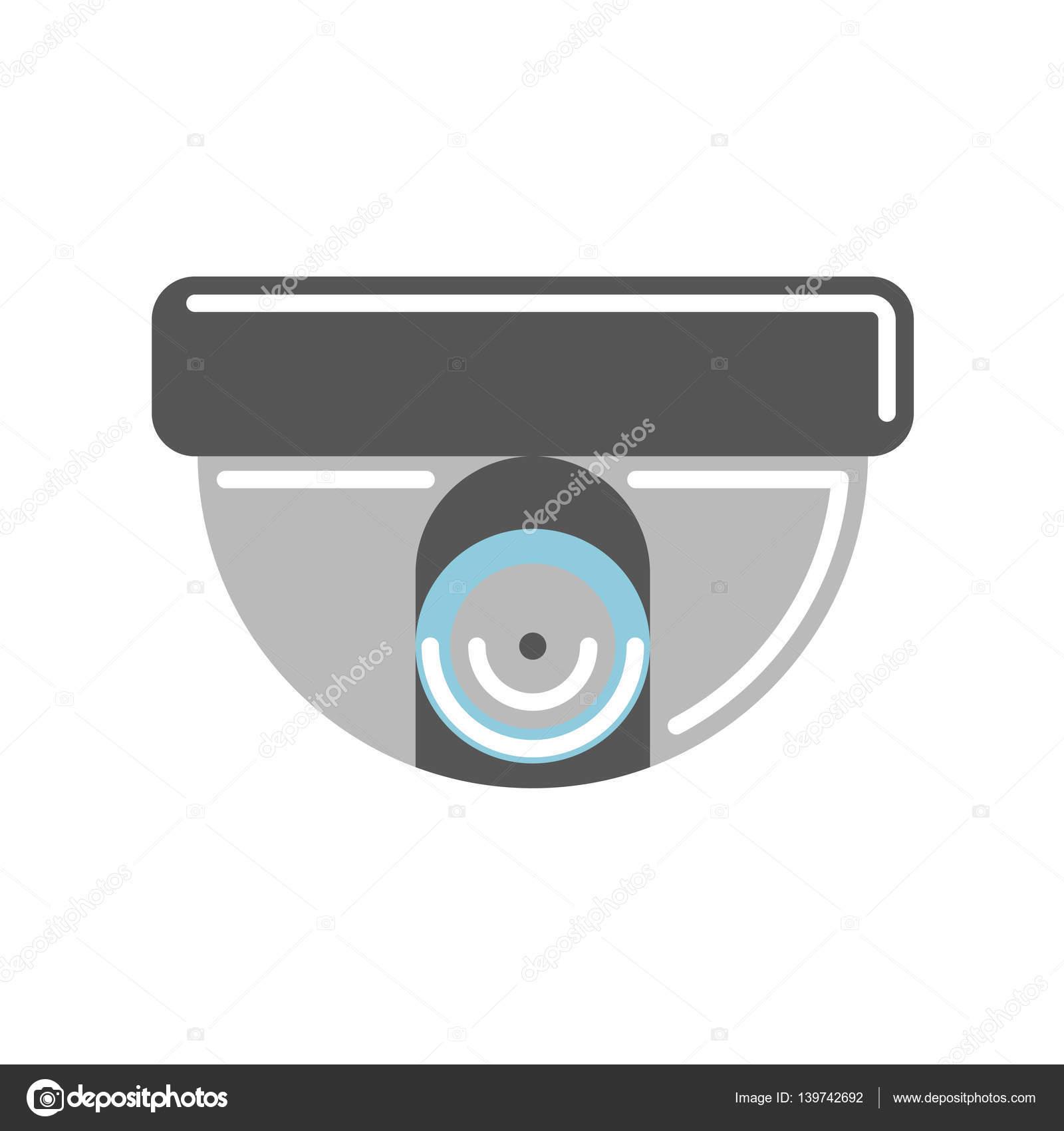 Isolated CCTV camera  — Stock Vector © inspiring vector