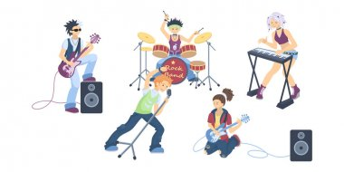 Isolated rock band.
