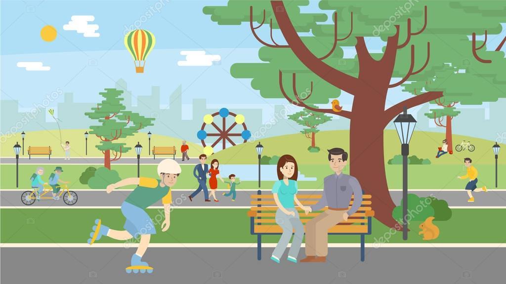 Fun in park.
