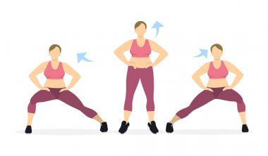 Lunges exercise for legs.