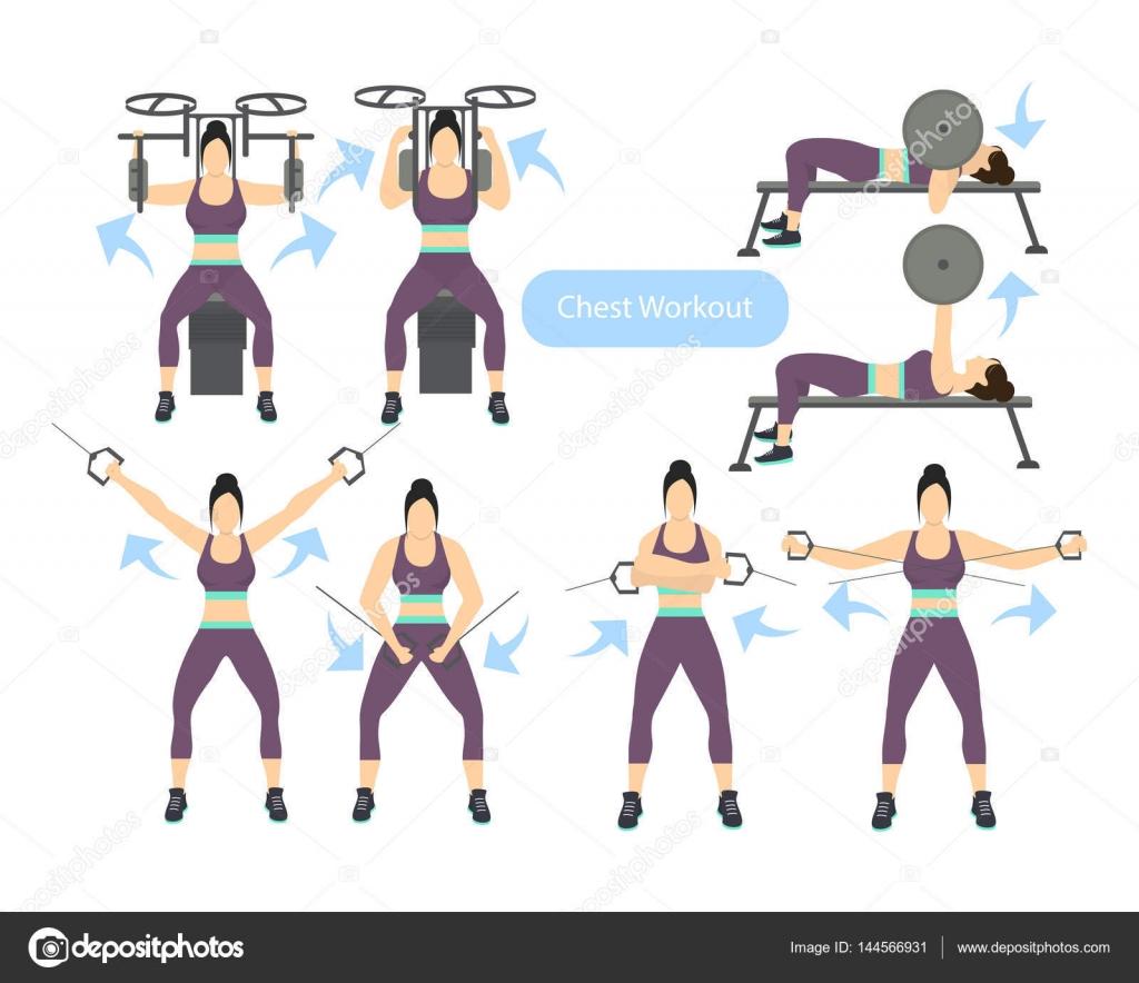 ejercicios de pecho para mujeres en el gimnasio