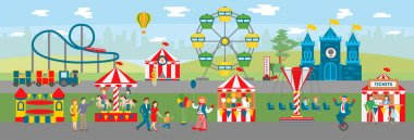 Amusement park illustration.