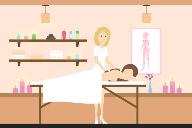 Massage in spa.