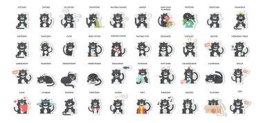 Cat emoji set.