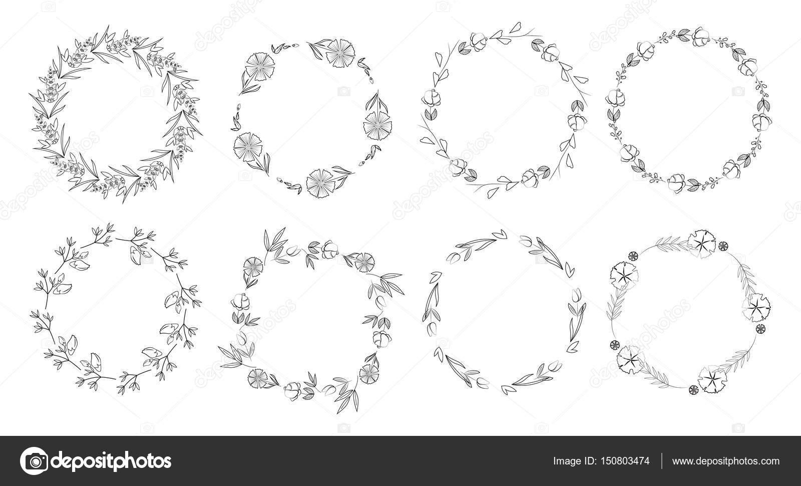 Vintage floral frames. — Stock Vector © inspiring.vector.gmail.com ...