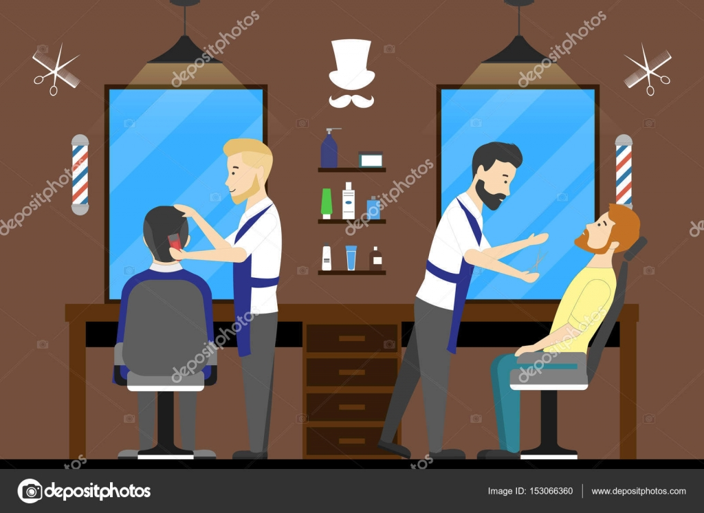 Barbershop Salon Inside Stock Vector C Inspiring Vector Gmail Com 153066360