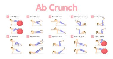 Abs workout set.