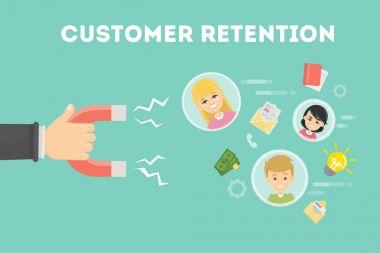 Customer retention concept.