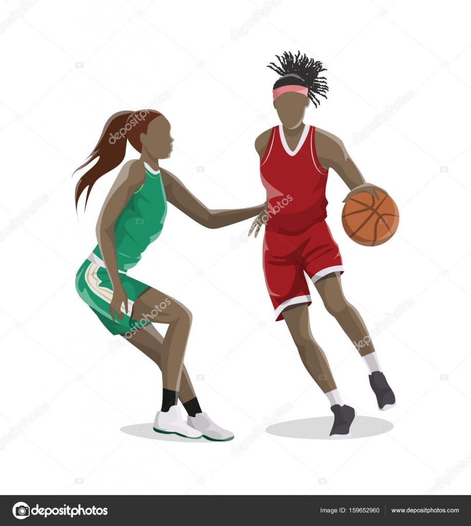 Resultado de imagem para mulheres jogando basquete - desenhos