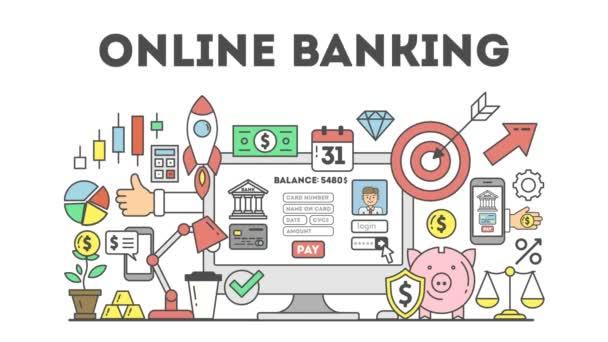 Koncept internetového bankovnictví.