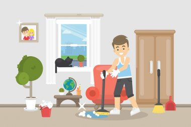 House cleaning illustration.