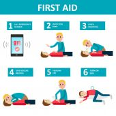 Photo First aid banner.
