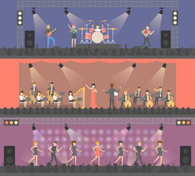 Concerts on stage set.