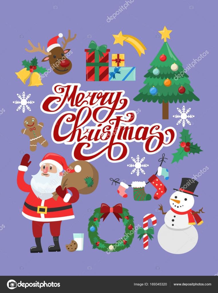 Foto Di Natale Divertenti.Adesivi Di Natale Divertenti Vettoriali Stock C Inspiring