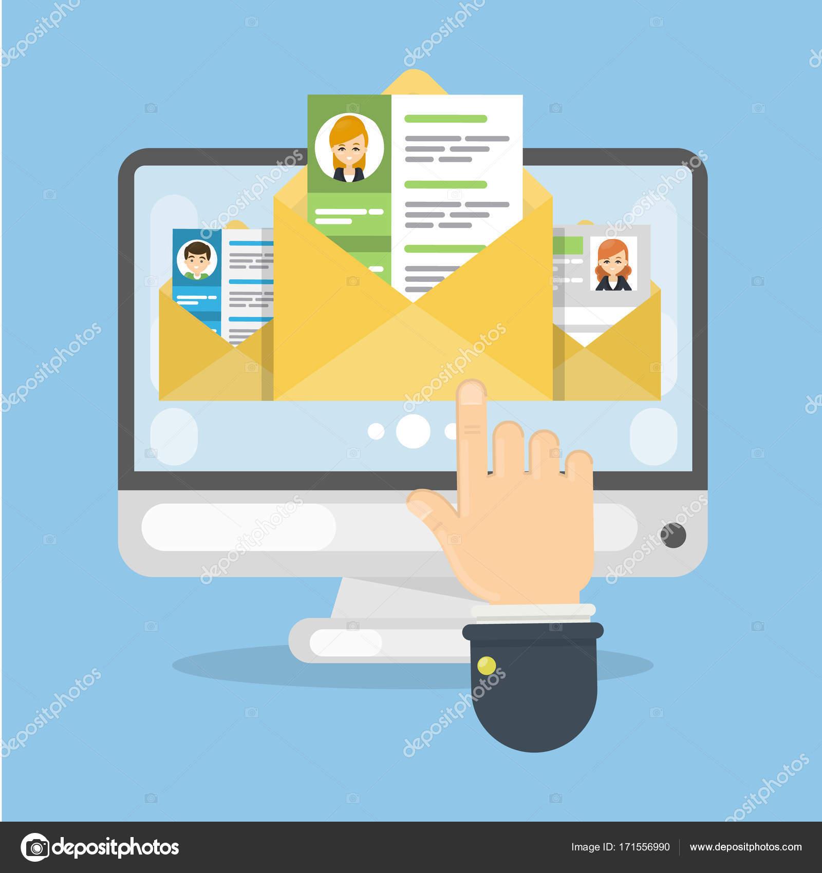 Curriculum Vitae para trabajo — Vector de stock © inspiring.vector ...