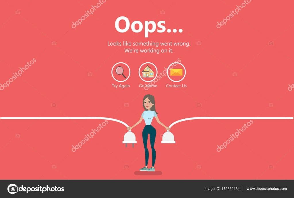Error page illustration  — Stock Vector © inspiring vector