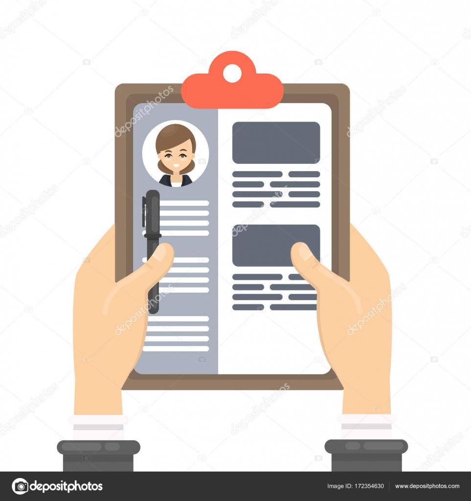 Revisión de currículums — Archivo Imágenes Vectoriales © inspiring ...