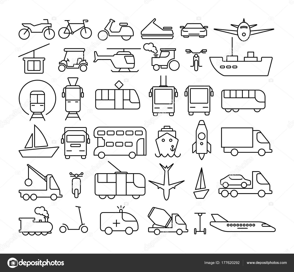 Transport Icons set — Stockvektor © inspiring.vector.gmail.com ...