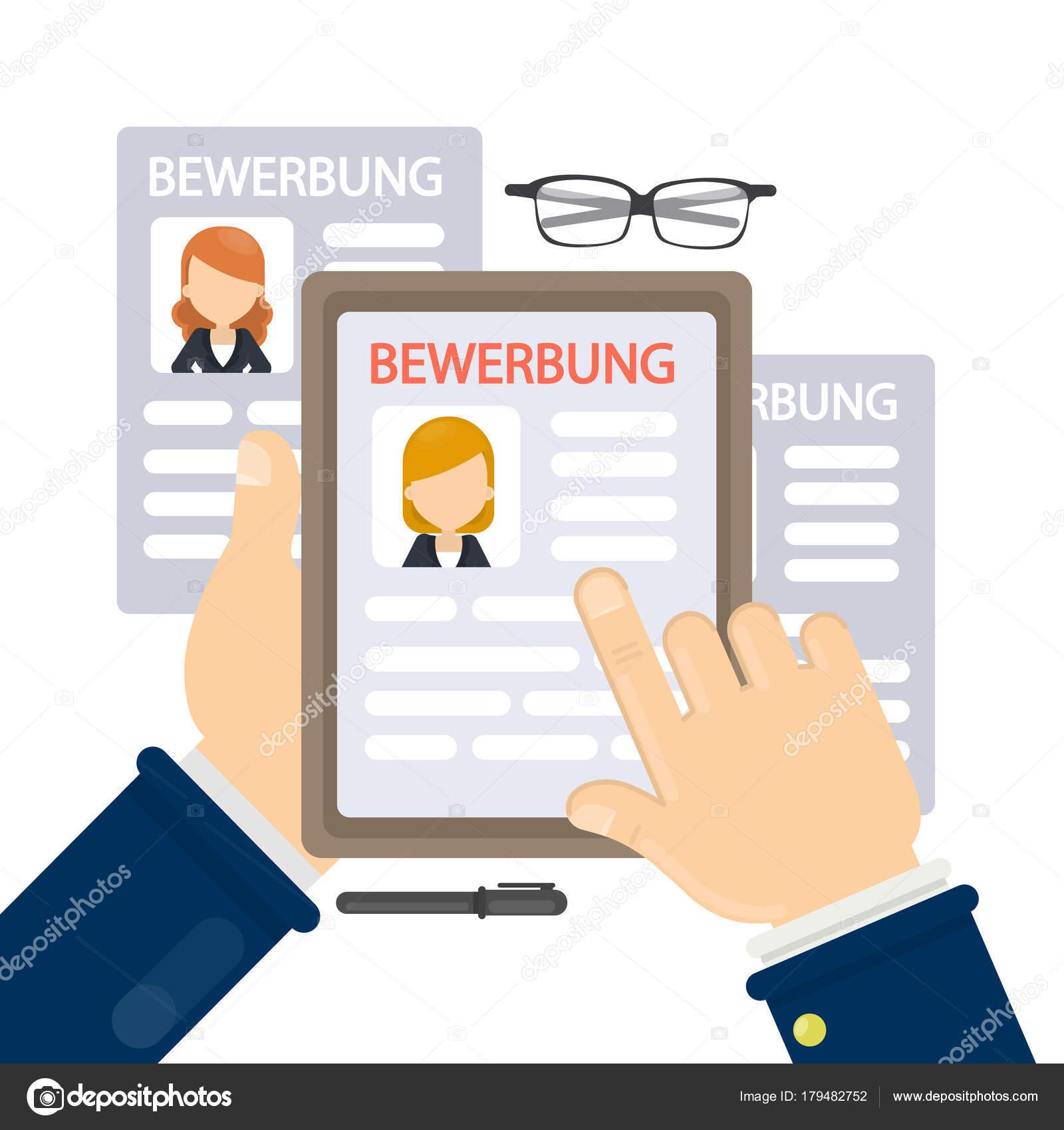 Bewerbung concept illustration. — Vector de stock © inspiring.vector ...