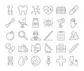 Fotografie Medicine icons set.