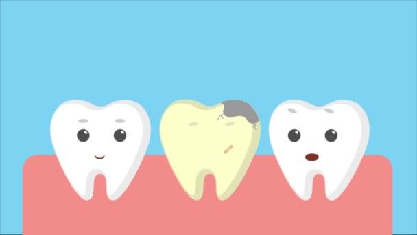 Kreslený dásně s bílými zuby