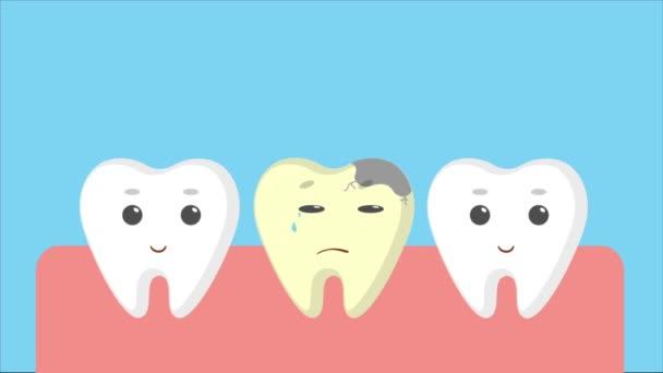 Cartoon-Zahnfleisch mit weißen Zähnen