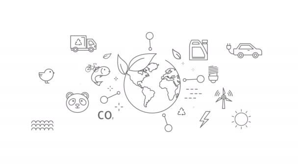 Ekologie ikony nastavit