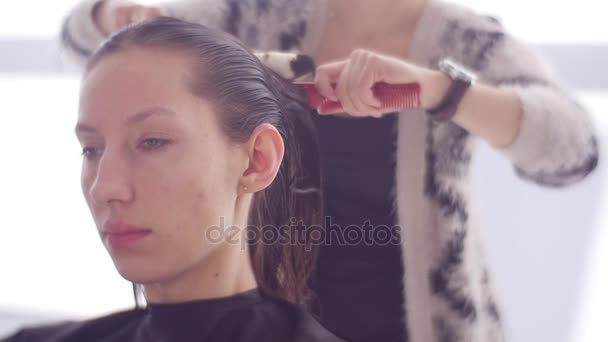 a Young Girl in a City Beauty Salon