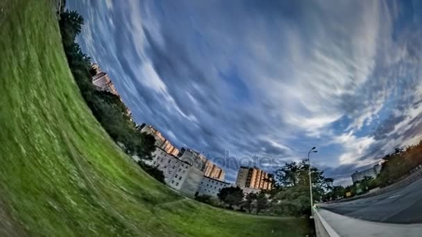 Rabbit Hole Planet 360 Degree Urban Ecology Nature and Buildings Densely Populated City Bridge Over Oder River Cityscape and Cloudscape Beautiful City