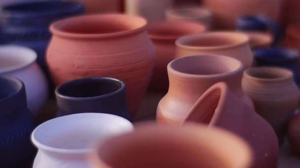 Assortment Of Pottery At The Fair Pottery As A Profession