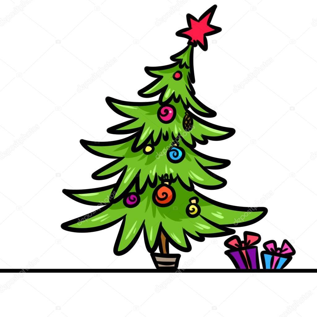 Rbol de navidad regalos de dibujos animados foto de - Arbol de navidad con regalos ...