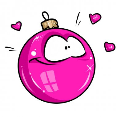 Christmas ball pink glamor ornament cartoon