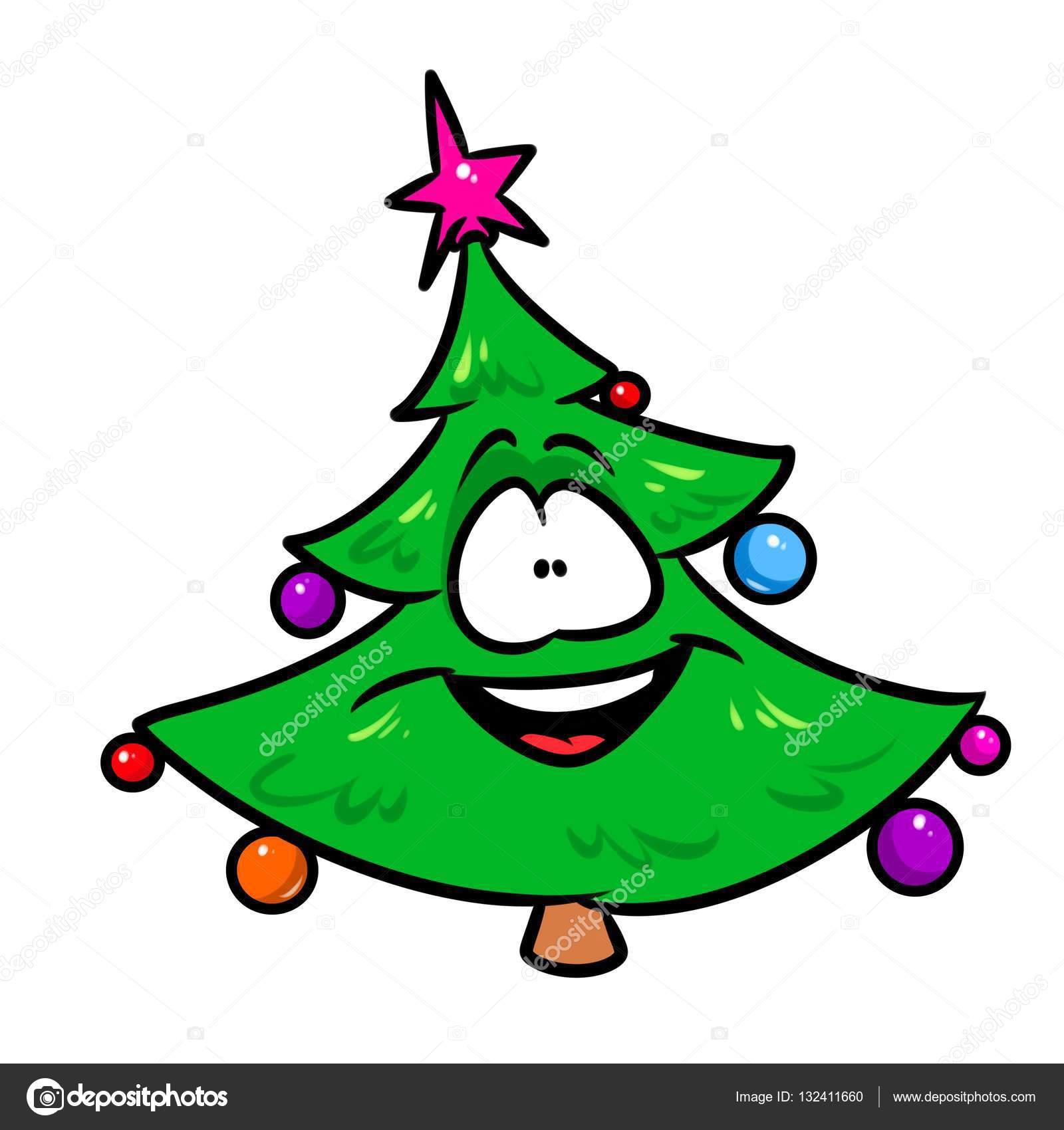 Dibujos A Colores De Navidad Historieta De Alegría árbol De