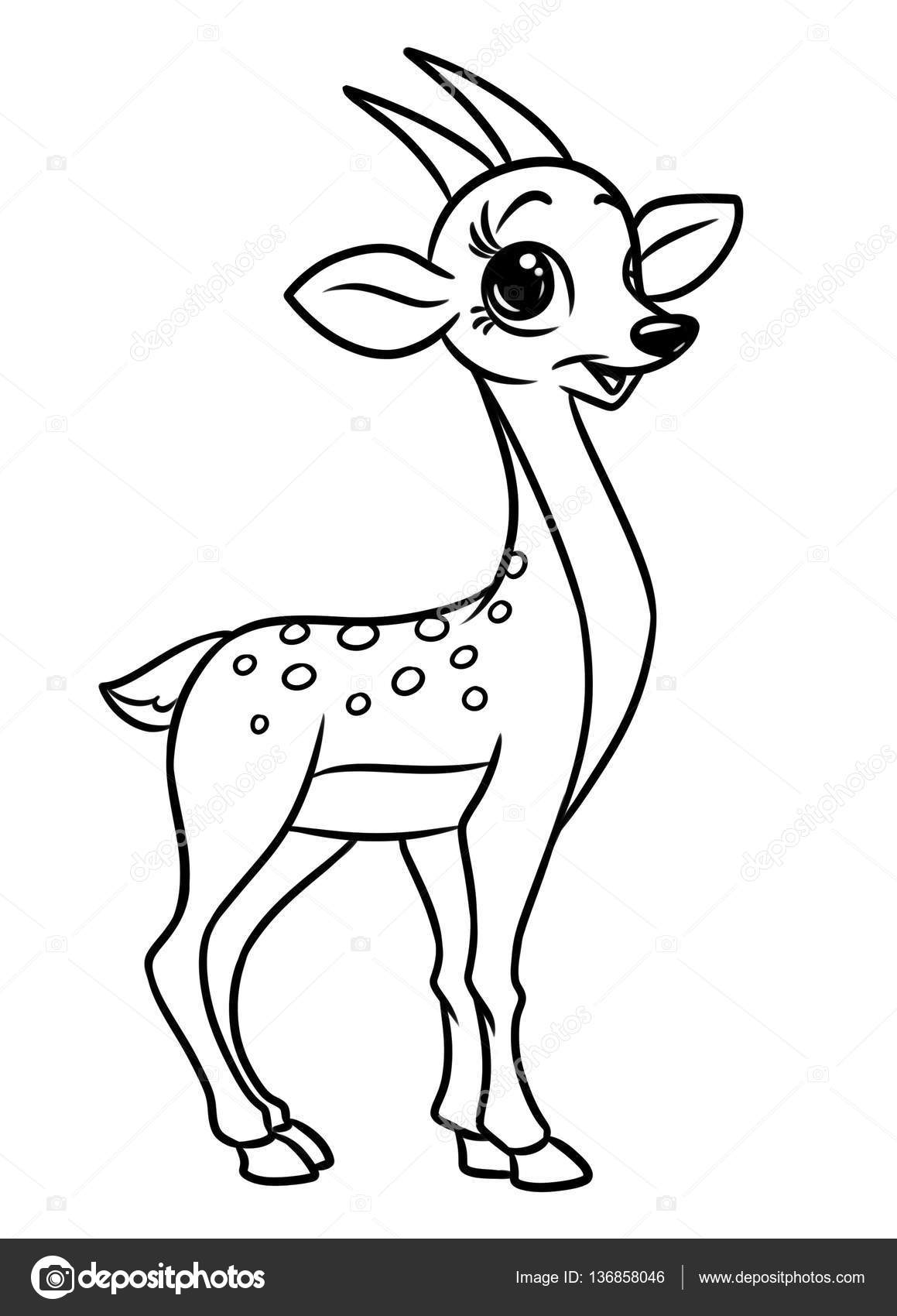 Stock Photo Antelope Animal Coloring Pages Cartoon on Antelope Coloring Pages