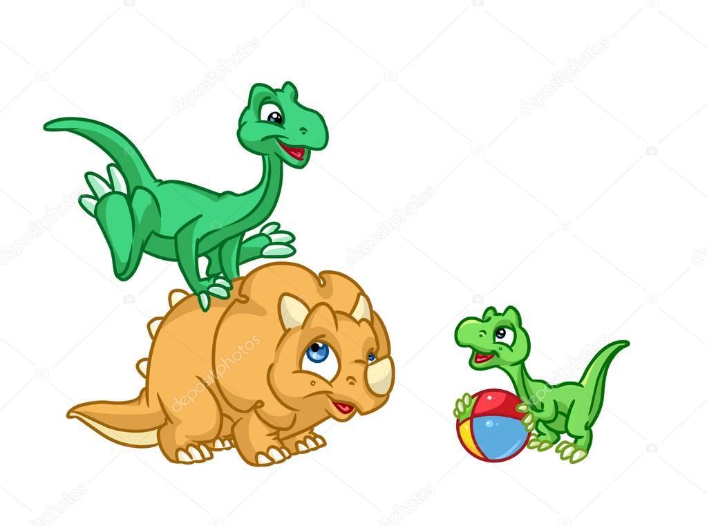 dibujos  dinosaurios bebe