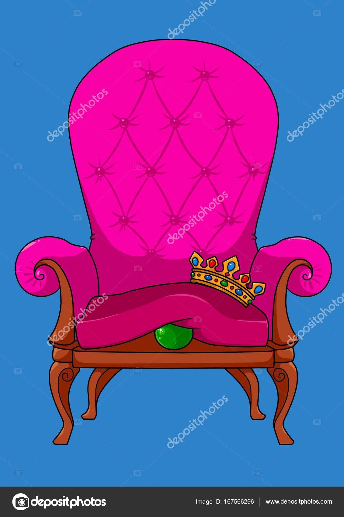 Dibujos Animados De Cuento De Hadas De Guisante Trono Real Fotos  # Muebles Cuento De Hadas