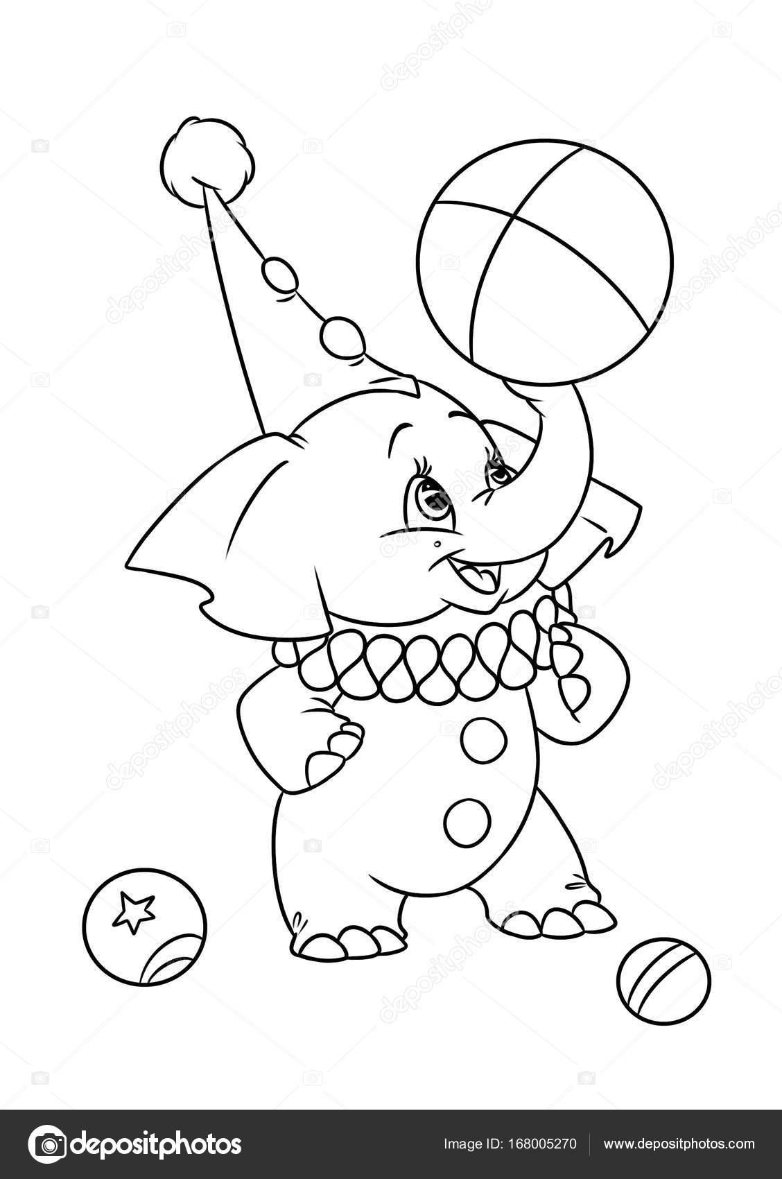 Dibujos Circo Página Para Colorear Dibujos De Circo Elefante