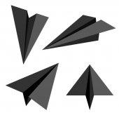Papírové letadlo. ilustrace