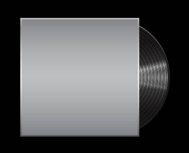 Vinyl record on black background . Eps 10  illustration