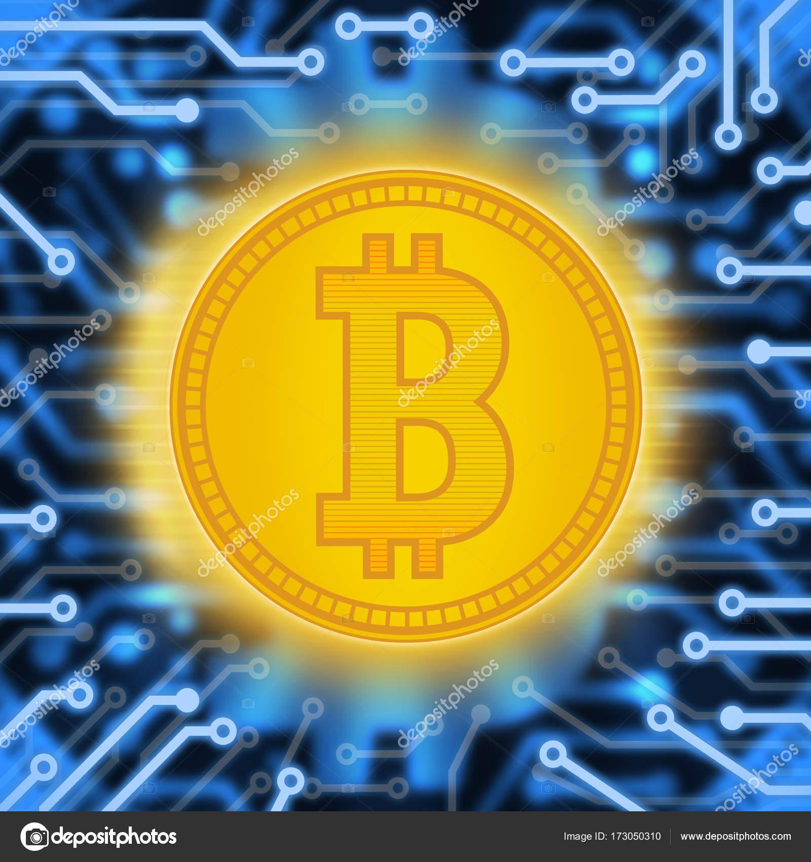 Krypto Währung Abstraktion eine Goldmünze. Abstrakte virtuelles Geld ...