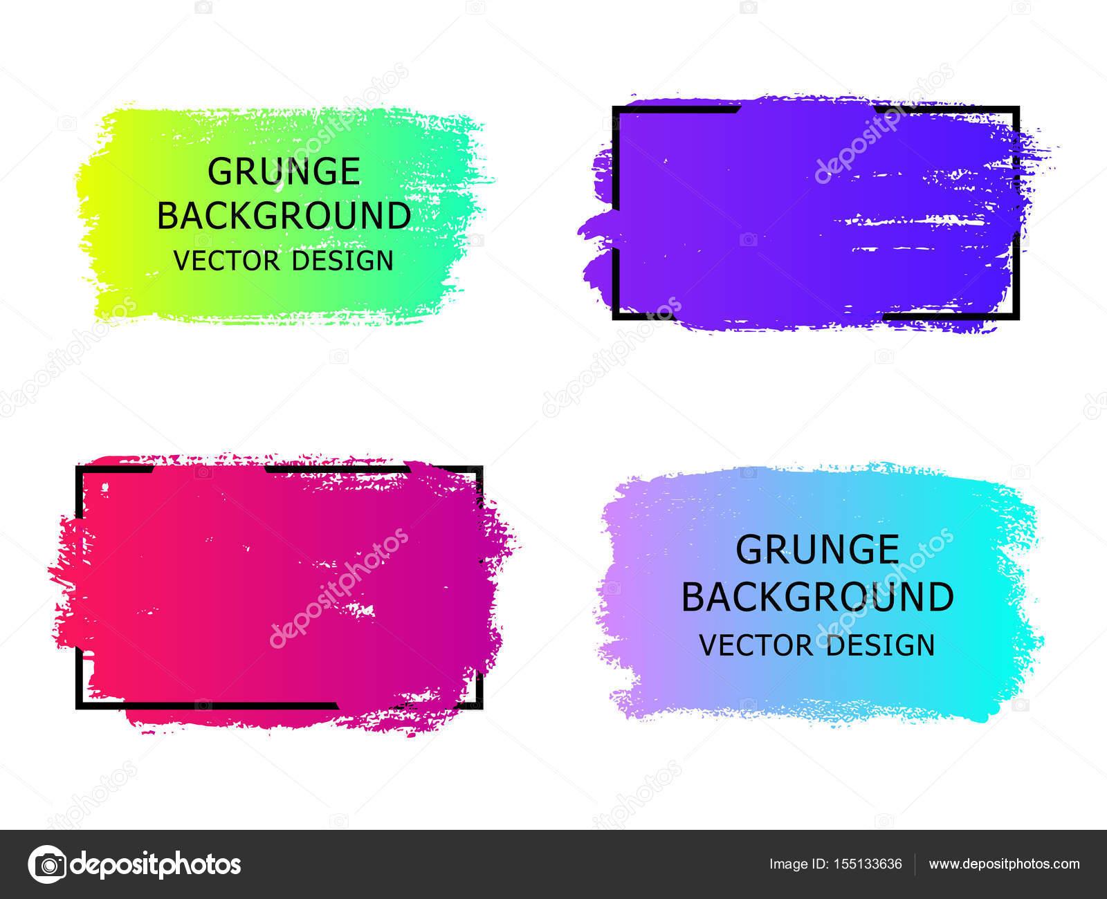 Satz von trendigen gradient Grunge Farbe Hintergrund mit Rahmen ...