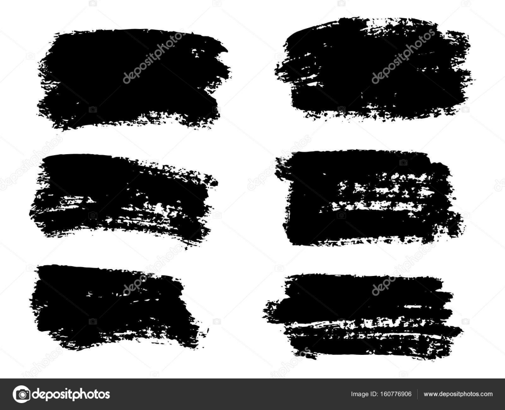 Vector black paint ink brush stroke brush line or texture Di