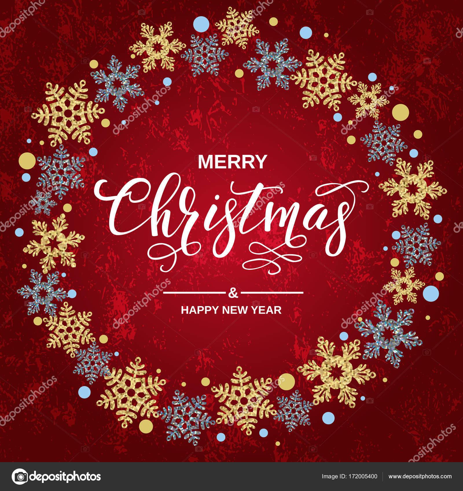Frohe Weihnachten Handschrift Skript Schriftzug. Gruß zu Weihnachten ...